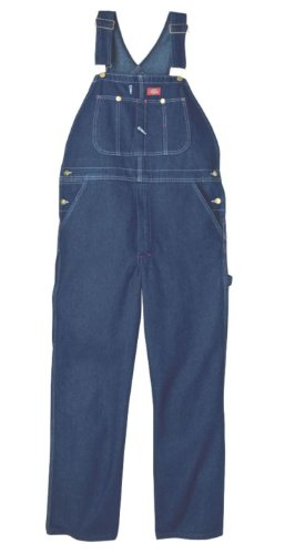 Dickies Men's Big-Tall Denim Stone Washed Bib Overall, Stone Washed Indigo Blue, 48x30