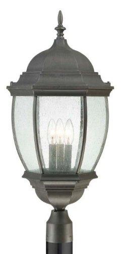 Thomas Lighting PL901063 Covington Outdoor Post Lantern, Painted Bronze ()