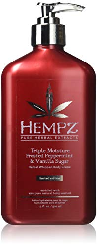 (Hempz 2017 Triple Moisture Frosted Peppermint & Vanilla Sugar Body Creme - 17oz)
