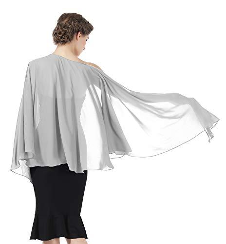 Shawls Wraps Scarf Chiffon For Women Bridal Wedding Evening ()