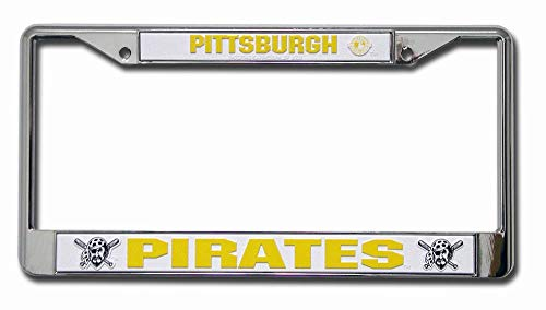 B.Fighting Pittsburgh Pirates MLB Chrome License Plate Frame