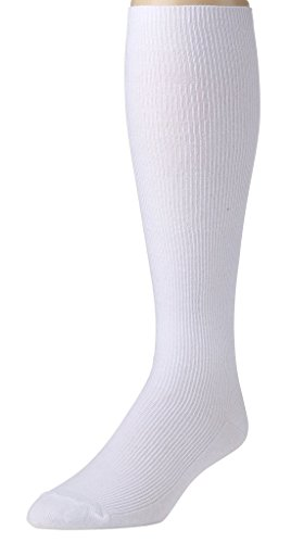 - Sportoli Men's Soft Ribbed Knit Cotton Blend Comfortable Knee High Socks - White (13-15)