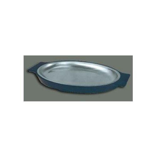 Winco SIZ-11 Stainless Steel Oval Sizzling Platter, 11-Inch