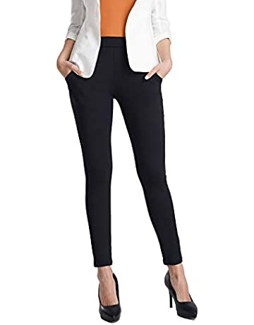 e532a775cfb24b Balleay Art Women's Yoga Dress Pants Tummy Control Stretch Slim Ankle Fit  Skinny Leggings