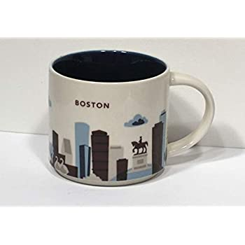 Amazon Com Starbucks Boston Relief Mug From Their City Relief Mug