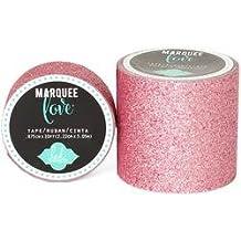 Bulk Buy: Heidi Swapp (2-Pack) Heidi Swapp Marquee Love Washi Tape 2in. Pale Pink Glitter, 8' HSMARW2-69795