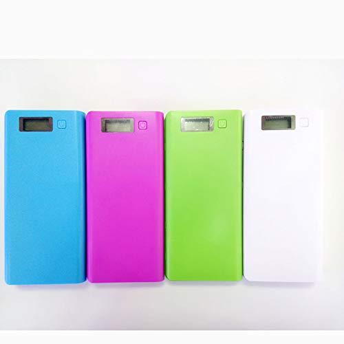 Mouchao 30000 mah USB 2 Port energienbank Fall 8x18650 ladeger/ät Box DIY f/ür Telefon