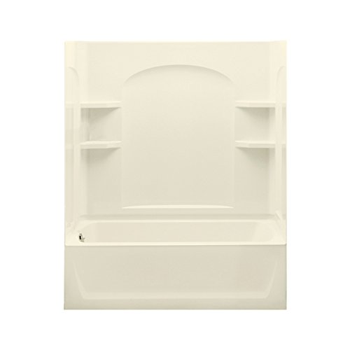 STERLING 71220112-96 Skirted Bath and Shower Kit, 60-Inch x 32-Inch x 76-Inch, Left-Hand, Biscuit