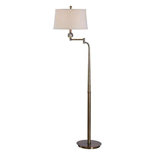 Uttermost Melini Tapered Steel Swing Arm Floor Lamp (Lamp Floor Club Adjustable)
