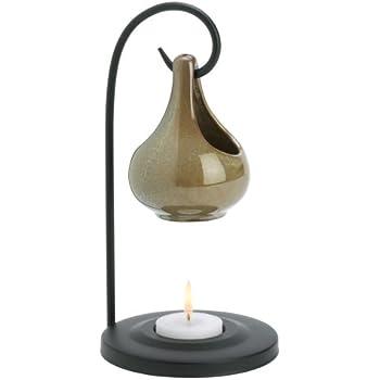 Gifts & Decor 57070396 Earth-Tone DOLLOP Oil Warmer, Black