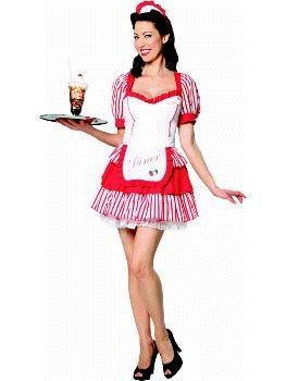 Diner Delight Waitress Adult Costume Size 2-4 X-Small  sc 1 st  Amazon.com & Amazon.com: Diner Delight Waitress Adult Costume Size 2-4 X-Small ...