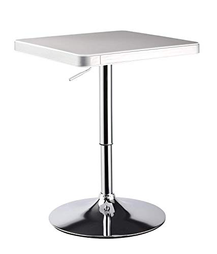 Height Room Bar Dining (Bar Table, Duhome Bar Height Table Pub Swivel Adjustable for Dining Living Room Kitchen Restaurant (White))
