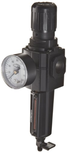Dixon B73G-4MG-MB Norgren Series Manual Drain Filter/Regulator with Metal Bowl and Sight Glass, 3/8