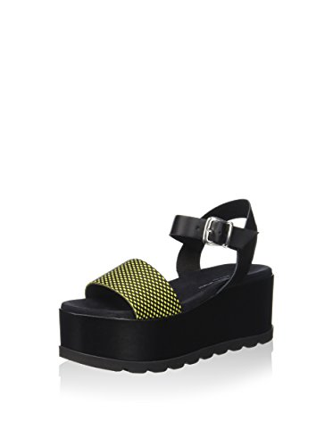Wedge PEFAZ9513WCJA200 Yellow Black Sandals Fornarina Women YO4n6qwxO