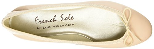 Leather Ballet French Flats India Sole Pink Pink Women's nWSxtS
