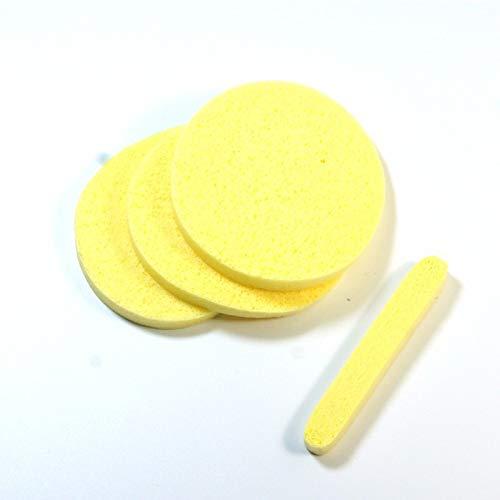 12 St/ück Gesichtsreiniger Flattern Make-up-Pufferentferner Gesichtsreinigungspads nass und trocken zum Waschen