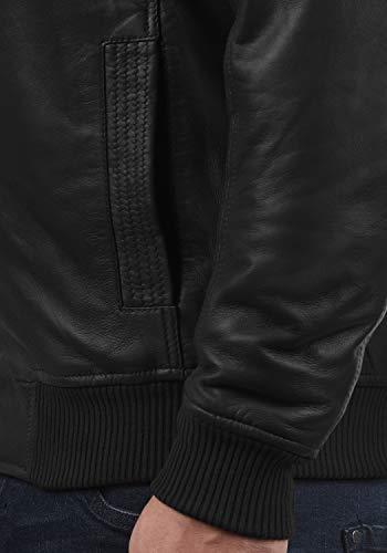nbsp; En Cuir Black solid Veste Famash Homme s9000 zw6gW14q