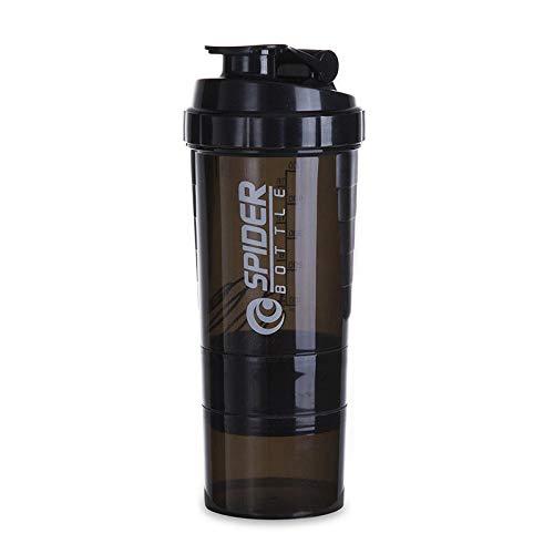Botella de agua para bicicleta con proteína en polvo, licuado de leche, sin BPA, botella de agua para ciclismo, 1 botella de agu