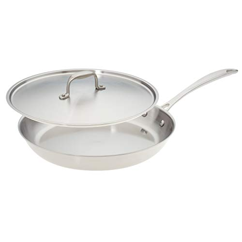 12-inch Premium Stainless Steel Skillet with Cover
