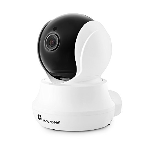 Houzetek 720P HD Home WiFi Wireless IP Security Surveillance Camera with Motion Detection, Micro SD Card and Night Vision, Baby Monitor
