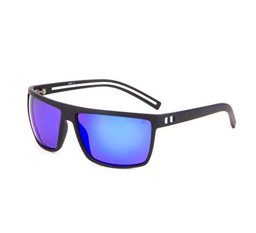 Tacloft Wayfarer 62mm Polarized Sunglasses TR008 (Black White Frame/Revo Blue - De Gafas Hombre Sol