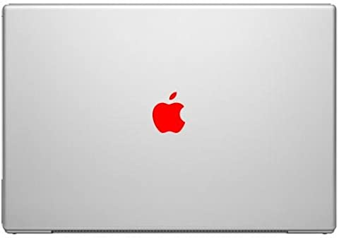 Red Color Change Apple Overlay Decal Sticker - Vinyl Decal for Cars, Macbooks, and Other Laptops (Red Color Laptop)