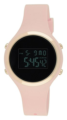 Moulin Ladies Pastel Color Digital Jelly Watch Pink #03158-76626 (Watches Women Jelly compare prices)