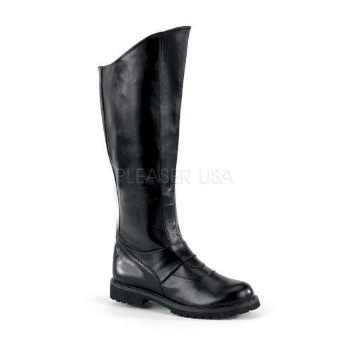 Funtasma by Pleaser Men's GOTHAM-100 Knee High Black Pu Boot