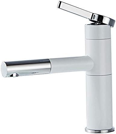 キッチン水栓 単一のハンドル1つの穴360°の回転可能な下水管のポップアップの下水管の大きい口が付いている広範囲の浴室のコック キッチンとバスルームに適しています (Color : Black/silver, Size : 30.5cm)
