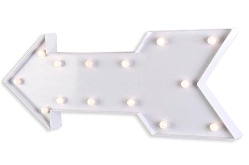 LED Leuchtpfeil 62x25cm Weiß Wegweiser Pfeil Beleuchtung