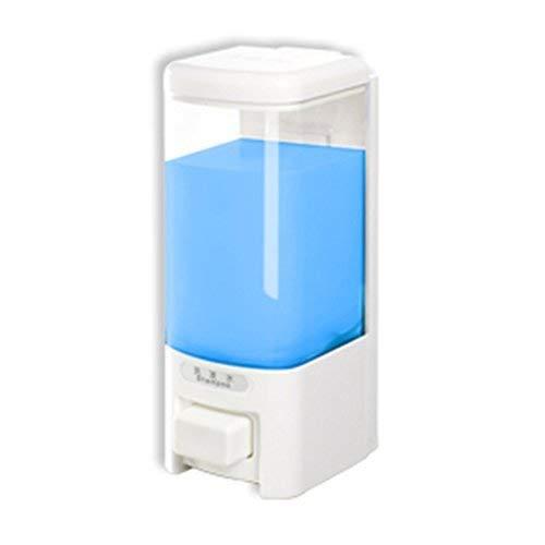 SVAVO V-8101 Liquid Plastic Wall Mount Hand Soap Dispenser for Hotel Kitchen Bathroom White,Chrome 500ml Pack of ()