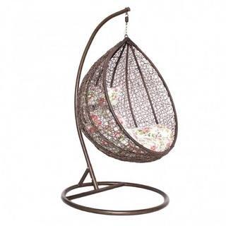 Virasat Outdoor/Indoor/Balcony/Garden/Patio/Hanging Swing Chair of Rattan & Wicker/Color-Brown