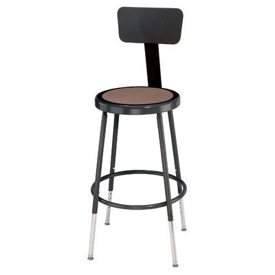 Adjustable Height Steel Lab Stool - NPS 18