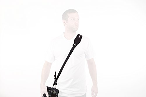 Custom SLR Glide One Strap Camera Strap System with Black C-Loop - Gliding Camera Strap with Quick-Release Buckles for DSLR, mirrorless, micro four thirds cameras by Custom SLR