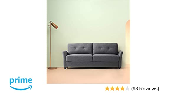 uncomfortable couch basement amazoncom zinus contemporary upholstered 784in sofa living room couch dark grey kitchen dining