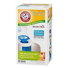 Arm & Hammer Diaper Pail Refills - 12 Pack (Arm And Hammer Diaper Pail Baking Soda Replacement)