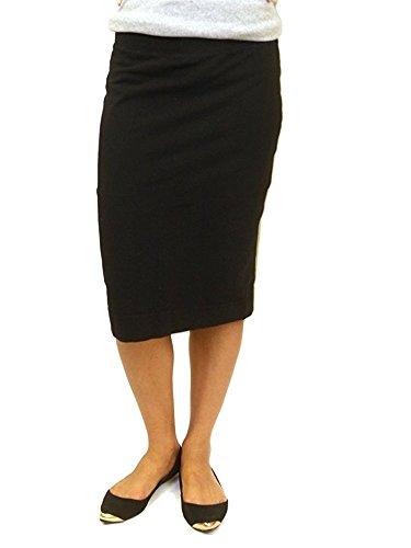Hardtail Short Cotton Pencil Skirt (L, Black)