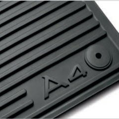 Genuine 2009 - 2013 Audi A4 Avant / 2009 - 2013 Audi A4 Sedan All Weather Floor Mats, Black - Front