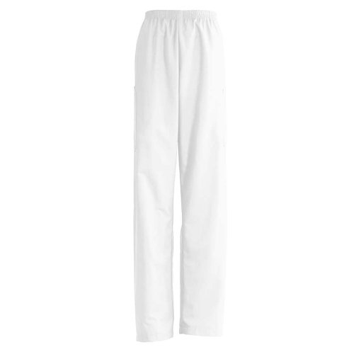 AngelStat Cargo Pocket Scrub Pants - White, Size XL; Length Long - 1 ea