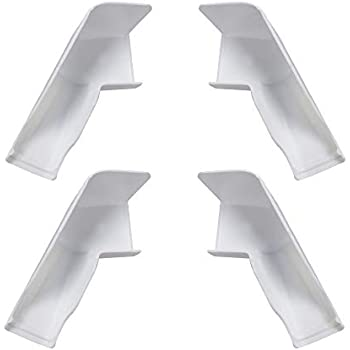 Camco 42462 Gutter Spout Wide//Long White 4 Pack