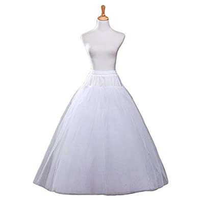 BEAUTBRIDE Women's White A-line Wedding Accessories Petticoat Underskirt Slips