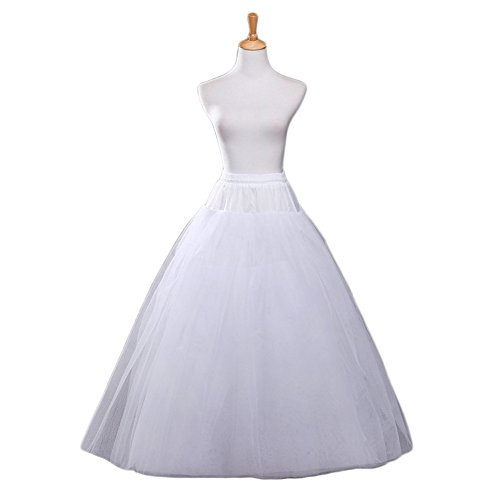 Vivian's bridal Women's White A-line Wedding Accessories Petticoat Underskirt Slips]()