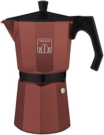 Cecotec cafetera Italiana Mimoka 300 Garnet. Fabricada en Aluminio Fundido, Apta para Diferentes Tipos de cocinas, para 3 Tazas de café: Amazon.es: Hogar