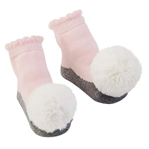 Mud Pie Swan Lake Pom Pom Rattle Toe Socks, 0-12 Months, Multicoloured