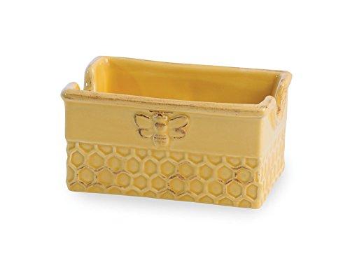 Boston International Ceramic Sugar Packet Holder, Honeycomb ()