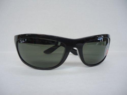 RayBan RB4089 601/58 Size 62 Balorama Black/Crystal Green Polarized Sunglasses