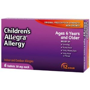 Allegra Childrens 12 Hour Allergy Relief, 30 Mg, 6 Tablets (Pack of 5) by Allegra