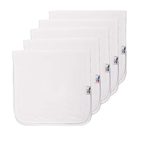 - Ana baby Organic Cotton, Pack of 5 Baby Burp Cloths, Large 21
