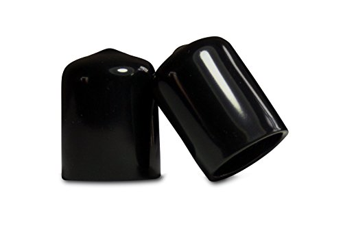 10 Pack: 3/4 Inch Round Black Vinyl End Cap, Cover Rubber Flexible Tube Pipe Marine Safety Tip 0.75