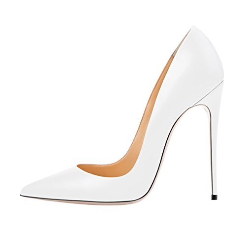 for High Spring Solid White Large Thin Heels Size Women's SexyPrey Shoes Autumn Court Toe Pointed IwPSqpWx7